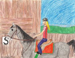 Horseback: Its What She Does by descendingbackwards