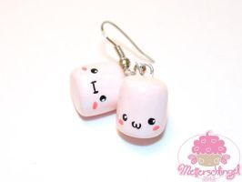 Kawaii Marshmallow Earrings by Metterschlingel