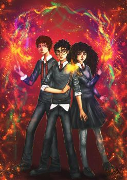 The Golden Trio by starparticles