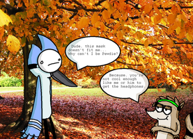 Mordecai's not cool enough! by AskMintyandFluffy