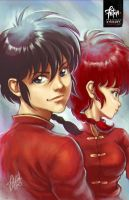 Ranma x2 by FranciscoETCHART