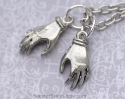 Victorian Hands Necklace by foowahu-etsy