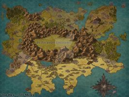 My DnD Continent Map by NickelEarredNick