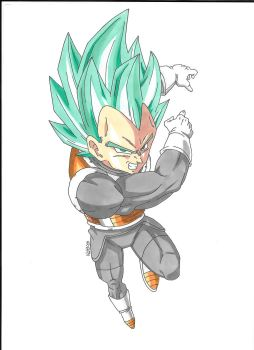 Vegeta SSJ BLUE by NatBam