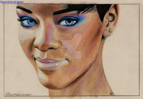 Rihanna Blue by ludvigsen