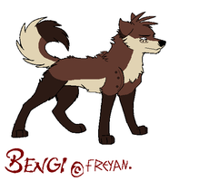 Bengi*In His wolf Form* by Kiddio-kun