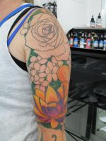 Flower sleeve by facepolution
