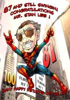 Stan Lee's 87th Bday card by NateJ25