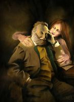 Victor Hugo and his Muse by MathildeAndre