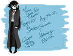 New Clyde ref sheet by The-Capricious-Clown