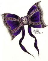 Skull Bow by DyannaC