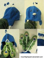 Peacock Hat by Moonflightspark