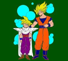 Goku and Gohan by dragonballdeviants