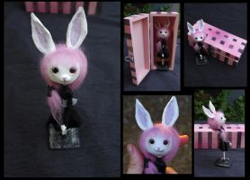 Pastel goth art doll. Cute bunny girl. by Lauramei