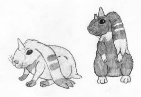 Real Terriermon and Lopmon by Steffanic