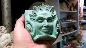 Bacchus Green ManVerdigris finish Cast Shadows by CastShadowsStudio