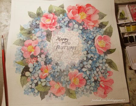 How to Paint Flowers: Hydrangea vs Camellia by nguyenshishi