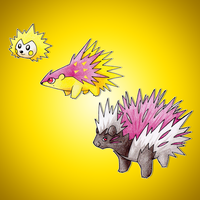 Hedgehog and Porcupine Fakemon by FakeMakeT