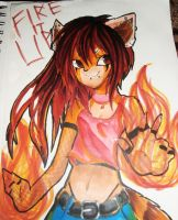 Fire It UP! Desirae by kyrathehegdehog