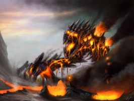 Fire Colossus by DiegoKlein