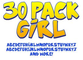 Font: 30 Pack Girl by andehpinkard