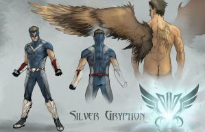 Concept Art - Silver Gryphon by AenTheArtist