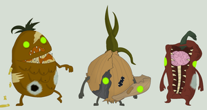 Adoptables - Zombie Produce #2 by Ask-The-Great-Kazaa