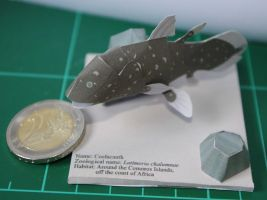 Coelacanth - Yamaha papercraft by SarienSpiderDroid