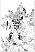 Guile Thor inks by MarkStegbauer