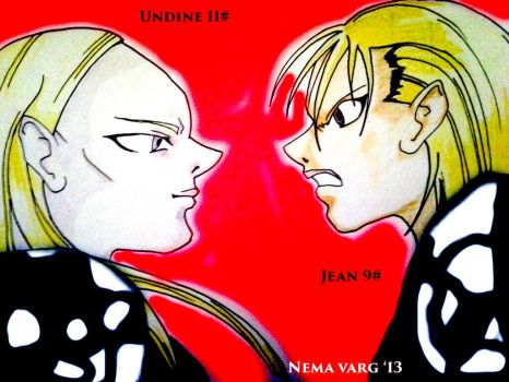 Claymore Undine and Jean by NVarg