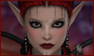 Red Goth Eyes by CaperGirl42