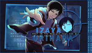 Out Inspiration: Izaya Orihara by Exo-KaiLu88
