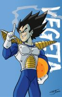 Vegeta Card by TheSteveYurko