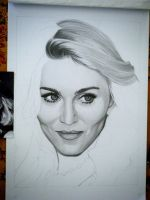 Drawing Madonna 7 by Sivine