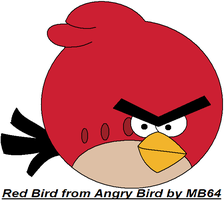 Red Bird from Angry Bird by MarioBlade64