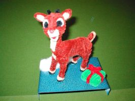 Pipe Cleaner Rudolph by fuzzymutt