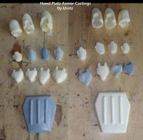 Halo 4 Master Chief Glove Hand Plates Castings by Uratz-Studios