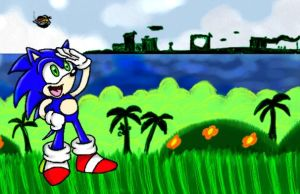 Tablet Practice - Sonic by pocket-arsenal