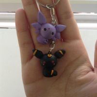 Chibi Umbreon and Espeon by Mechyx