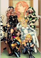 X-Girls - colors by gabcontreras