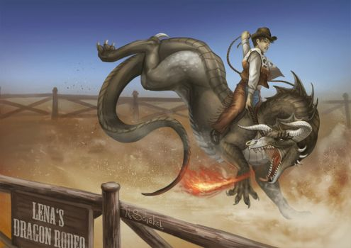 Lena's Dragon Rodeo by Pechschwinge