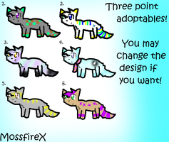 Adoptable Batch - Three Points by Fangirl-Trash
