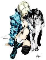 sniper wolf sketched by konami by ONATaRT