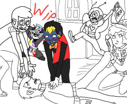 Dhmis draw the squad WIP by RKW2004