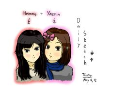 Daily Sketch #11 - Harang+Yazmin for Thursday by F1rst-Pers0n