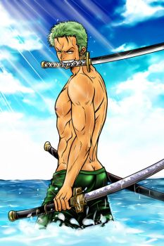 Roronoa Zoro - One Piece - by Marie-Angele