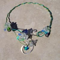Custom Butterfly Fairy Necklace Torque by FairyberryBlossoms