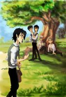Marauders and Snape by MadTwinsArt