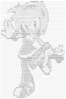 ASCII Art: Amy Rose by yonicdeviant