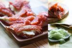 Open sandwiches with salmon by brunettitude